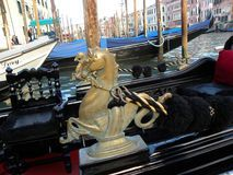 Detail of a Venetian Gondola Royalty Free Stock Images
