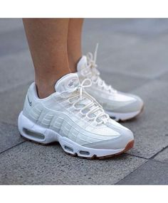 new styles f0fa3 221d1 Nike Air Max 95 White Grey Trainers Nike Free Shoes, Nike Shoes Outlet, Nike