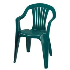 Earth Slat Seat Resin Stackable Patio Dining Chair Patio