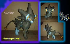 This pokemon papercraft is Luxray (Rentorar), an Electric-type Pokémon, based on the anime / game Pokemon, the paper model was created by javierini. Art Pokemon, Type Pokemon, Papercraft Download, Diy And Crafts, Paper Crafts, Anime Crafts, Paper Models, Paper Toys, Free Paper