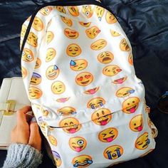 OMG! AN EMOJI BACKPACK! NEED! KXN Mark of Approval! <3