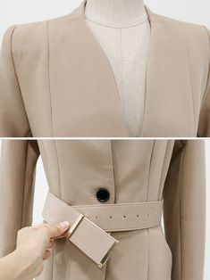 Wholesale Autumn Solid Color V-neck OL Style Formal Suits EHG082845 | Wholesale7.net Hand Embroidery Videos, Formal Suits, Latest Fashion, Autumn Fashion, V Neck, Blazer, Jackets, Shopping, Color