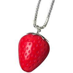 Strawberry Necklace ($135) ❤ liked on Polyvore featuring jewelry, necklaces, accessories, red jewelry, charm necklace, charm jewelry and red necklace