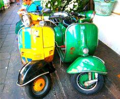 Vintage Vespa Piaggio, Pahurat, Bangkok, Thailand