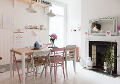 Apartment in London by Caroline Rowland and her husband Simon | #hometour #vintage #shabby #interior