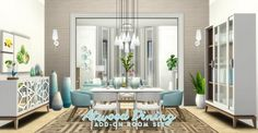 Simsational designs: Atwood Dining - Content Collection Addon • Sims 4 Downloads