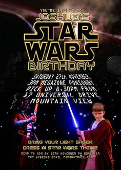 FREE Kids Party Invitations: Star Wars Party Invitation *NEW*