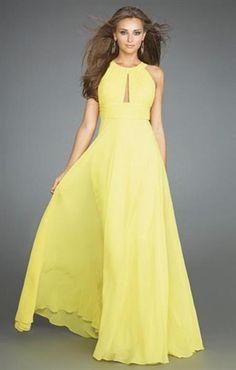 Красивое длинное платье из шифона