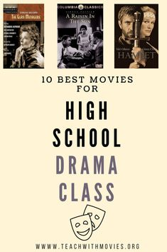 Theatre and English teachers we recommend students watch the movies after they have read the play to further understand the story characters and themes. Free teaching guide available! Drama Teacher, Drama Class, Film Class, High School Classroom, Future Classroom, Ela Classroom, Classroom Activities, School Teacher, Classroom Ideas