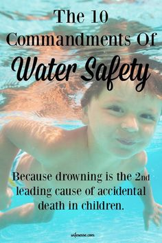 Kids Health Essential water safety information to keep your kids safe. - Every parent must know the 10 Commandments of Water Safety because drowning is the second leading cause of accidental death for kids Swim Lessons, Lessons For Kids, Kids And Parenting, Parenting Hacks, Practical Parenting, Summer Safety, Water Safety, 10 Commandments, Summer Activities For Kids