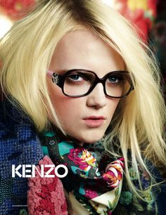 Emma Karlsson by Olaf Wipperfurth for Kenzo Accessoires Fall/Winter 2009 Campaign