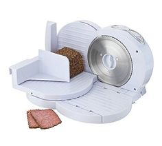 Cookworks Food Slicer - White--42.33 Cooks Knife, Chef Knife, Tidy Kitchen, Small Kitchen Appliances, Meat Slicers, Sandwich Cake, High Carbon Steel, Kitchen Knives, Tray Bakes