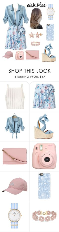 """Pink. Blue"" by fmdiola ❤ liked on Polyvore featuring Topshop, Miss Selfridge, Ralph Lauren, Kate Spade, Fujifilm, adidas, Casetify, Kapten & Son and BaubleBar"
