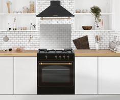 Cocina vintage con campana vintage Ideas Para, Bedroom Ideas, Kitchen Cabinets, Home Decor, Deco Cuisine, Kitchen Rustic, Small Kitchens, Decorative Bells, Kitchen Hoods
