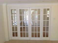 White 15 Glass Panel Internal French Doors & Frame 2.4m Wide X 2m High | eBay