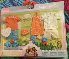 Happy Family Neighborhood Family Fashions for Midge, Alan, Ryan, Nikki NIP Barbie Family, Happy Family, Antique Dolls, Lunch Box, Childhood, Antiques, Antiquities, Infancy, Antique