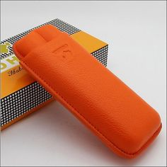 Product: Cigar CaseSpecification: 165*70*35mmCapacity: 2 cigarsColor: Orange Leather Cigar Case, Cow Leather, Cigar Cases, New Gadgets, Orange, Cigars, Continental Wallet, Zip Around Wallet, Best Gifts