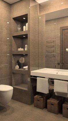 Bathroom Layout, Modern Bathroom Design, Bathroom Interior Design, Bathroom Storage, Bathroom Organization, Basement Bathroom, Remodel Bathroom, Bathroom Remodeling, Bathroom Makeovers