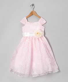 Take a look at this Pink Rose Swirl Organza Dress - Toddler & Girls by Sweet Kids on #zulily today!