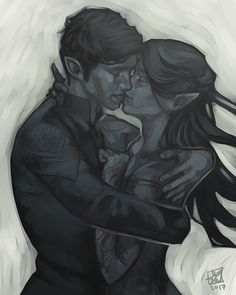Feyre and Rhys/Rhysand - basically the cutest and hottest and sweetest couple ever