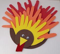 Adorable Handprint And Footprint Turkey Thanksgiving Kids Easy