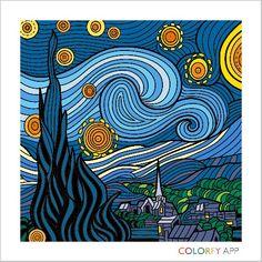 My starry night Art Sketches, Art Drawings, Starry Night Art, Van Gogh Art, Famous Art, Diy Canvas Art, Art Plastique, Vincent Van Gogh, Oeuvre D'art
