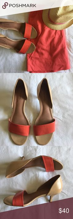 Corso Como coral leather sandals size 11 Like new! Corso Como coral leather sandals. Color is more of a pinky coral than an orangey coral. Great sandals to dress up a daytime summer outfit. Very comfortable. 1in kitten heel. Size 11. Corso Como Shoes Sandals