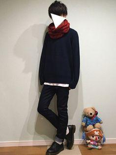 tai(プチプラ)さんの「アゼクルーネックセーター XL(GU)」を使ったコーディネート