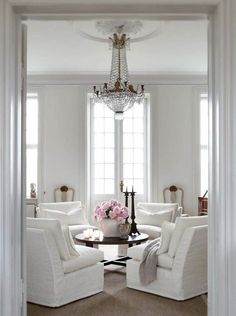 white chairs :: white living room