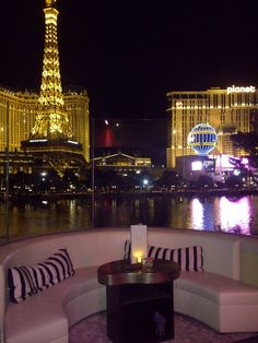 A drink with a view... Club Hyde, Las Vegas, at the Bellagio Hotel