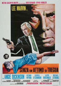 Original 1967 Italian 2 sheet film poster for Point Blank. The artwork on the US 1 Sheet of Point Blank may be iconic, however we prefer the artwork that features on the Italian 2-Foglio (2 sheet). Sized at 39 x 55 inches it is a poster that will truly make an impact in any room that it hangs, and is much rarer than its US counterpart.