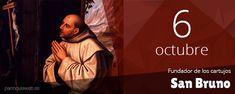 San Bruno, presbítero, que, oriundo de Colonia, en Lotaringia, en territorio de la actual Alemania, enseñó ciencias eclesiásticas en la Galia, pero deseando llevar vida solitaria, con algunos discípulos se instaló en el apartado valle de Cartuja, en los Alpes, dando origen a una Orden que conjuga la soledad de los eremitas con la vida común de los cenobitas. Llamado... San Bruno, Movies, Movie Posters, Saints, Buen Dia, Teaching Science, Loneliness, Alps, Germany