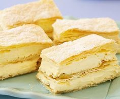 FRENCH VANILLA SLICE - soft filling, ? Less cream??