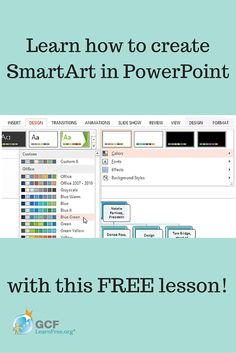 In #PowerPoint SmartArt lets you communicate information with graphics instead of just plain text. Get the most out of it with this free lesson from GCFLearnFree.org.