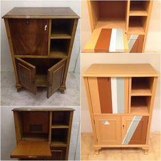 Renovated bar cabinet #BeforeandAlis