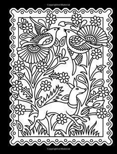 mexican folk art designs amazoncom mexican folk art coloring book