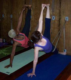 Yoga on the rope wall! 8th Street Studio - 8thStreetStudio