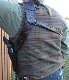 Basket weave shoulder holster for Ruger GP100. #ruger #FilsonLife…