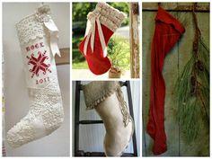 Bota de Navidad (patrón): Burlap Stocking