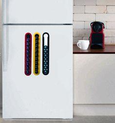 Kithcen Set   Magnetic Coffee Nespresso Pod   3 Stands Holders Storage  Coffee Capsules Holder Nespresso