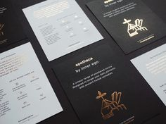 Promotional Cards with Goldfoil | Apotheca on Behance