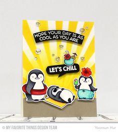 RejoicingCrafts: MFT Penguins in Paradise Stamp Set. #mftstamps