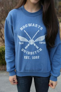 Harry Potter Clothing Hogwarts Quidditch Sweater by PerksOfBeingAWeasley