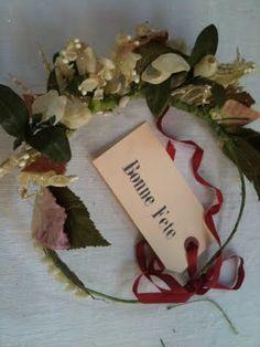 millinery flower hair wreath crown
