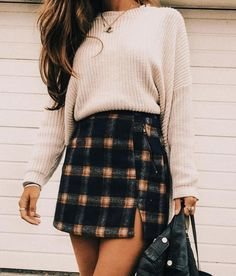 Cute Fall Outfits, Spring Outfits, Fall Skirt Outfits, Ootd Spring, Spring Hair, Best Outfits, Stylish Outfits, Fancy Casual Outfits, Pretty Outfits