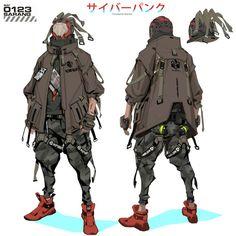 机能战士 (Funtional Warrior) - by - YUSONG ZENG (3pics): Cyberpunk Mode Cyberpunk, Cyberpunk Kunst, Cyberpunk Anime, Cyberpunk Clothes, Cyberpunk Aesthetic, Cyberpunk Fashion, Fantasy Character Design, Character Design Inspiration, Character Concept