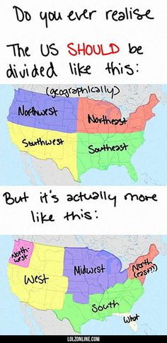 The Us And Its Strange Geography#funny #lol #lolzonline