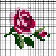 New Embroidery Rose Pattern Design Cross Stitch Ideas Mini Cross Stitch, Simple Cross Stitch, Cross Stitch Charts, Cross Stitch Designs, Cross Stitch Patterns, Cross Stitch Flowers Pattern, Rose Embroidery, Cross Stitch Embroidery, Embroidery Designs