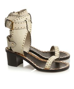 Sheer: Isabel Marant studded leather sandals / Garance Doré