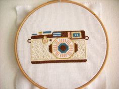 Items similar to Cross Stitch Pattern PDF, Camera Counted Cross Stitch Pattern, Modern Cross Stitch on Etsy Cross Stitch Pattern Maker, Cross Stitch Tutorial, Easy Cross Stitch Patterns, Simple Cross Stitch, Modern Cross Stitch, Cross Stitch Designs, Diy Embroidery Patterns, Hand Embroidery Patterns, Counted Cross Stitch Patterns